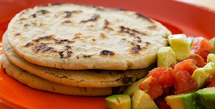 Image of yummy black bean pupusas.