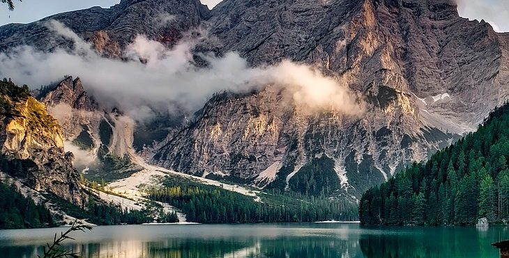 Image of a majestic mountain and lake in a secluded area in Italy. A Stand For Honor