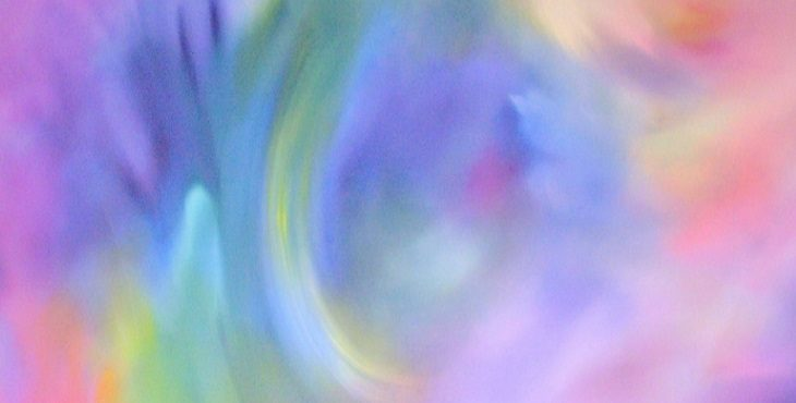 Image of beautiful soft rainbow pastel colors. Meditation For Synthesis