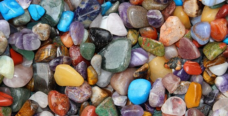 Image of a variety of gemstones and colors. Language Of Light And Minerals