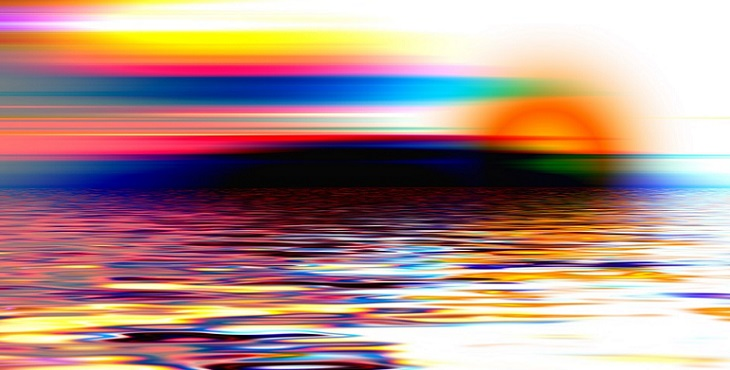 Image of gorgeous multicolored sunset. Light Wave Archive #10