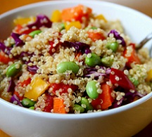 Quinoa Salad with Sesame Ginger Dressing