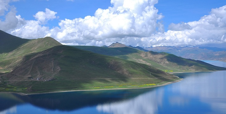 Image of a pristine valley somewhere in a secret place in Tibet. Earth Archive #2
